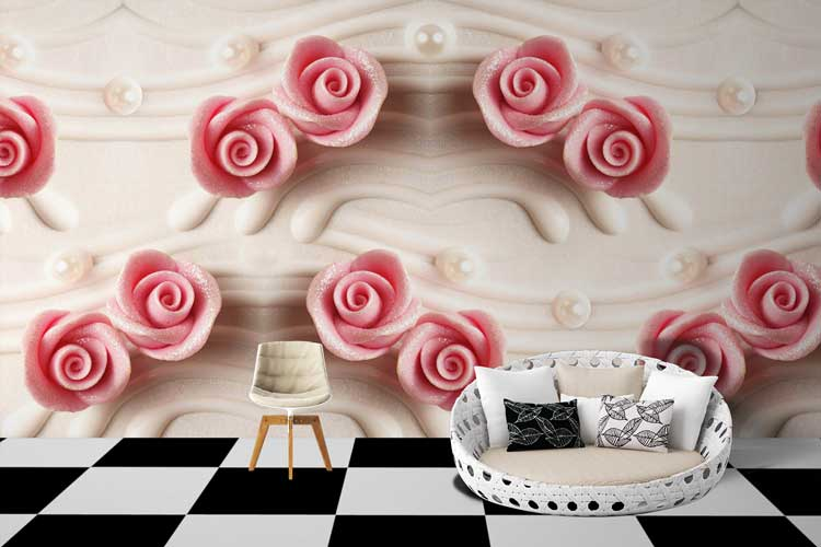Roses Infused Wall