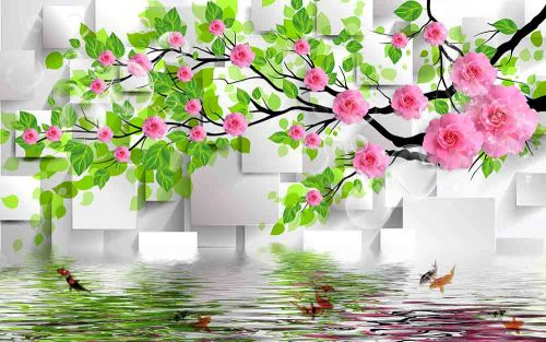 Fishes With Pink Flower