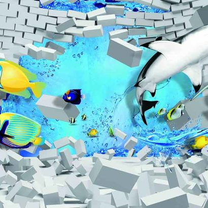 3D Fishes Water Bricks 3