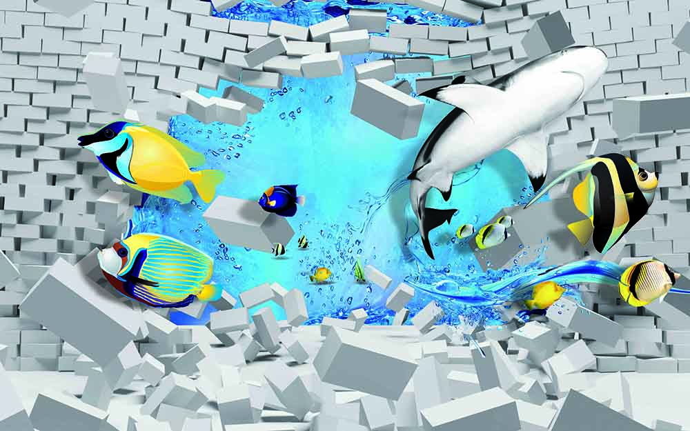 3D Fishes Water Bricks