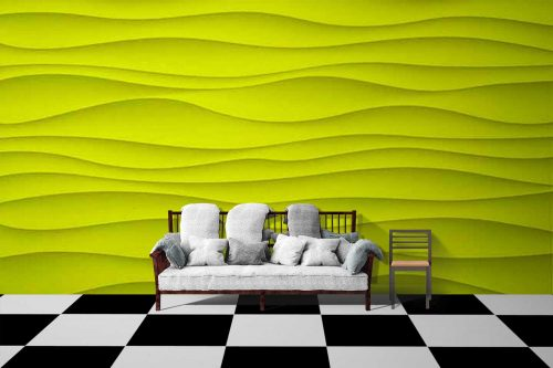 Yellow Wave Texture