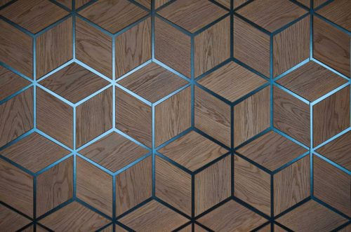 Wood With lining Hexagon