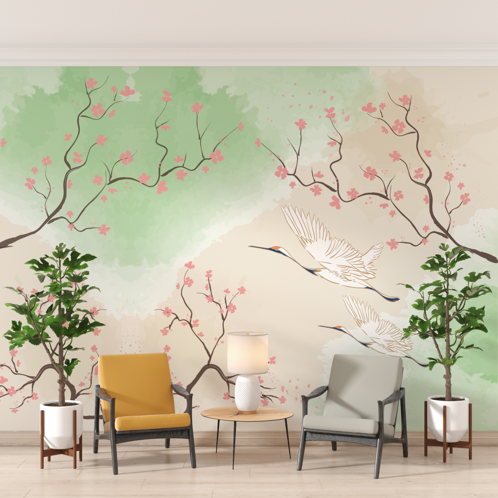 """A beautiful wall mural of our """"Hope"""" collection."""