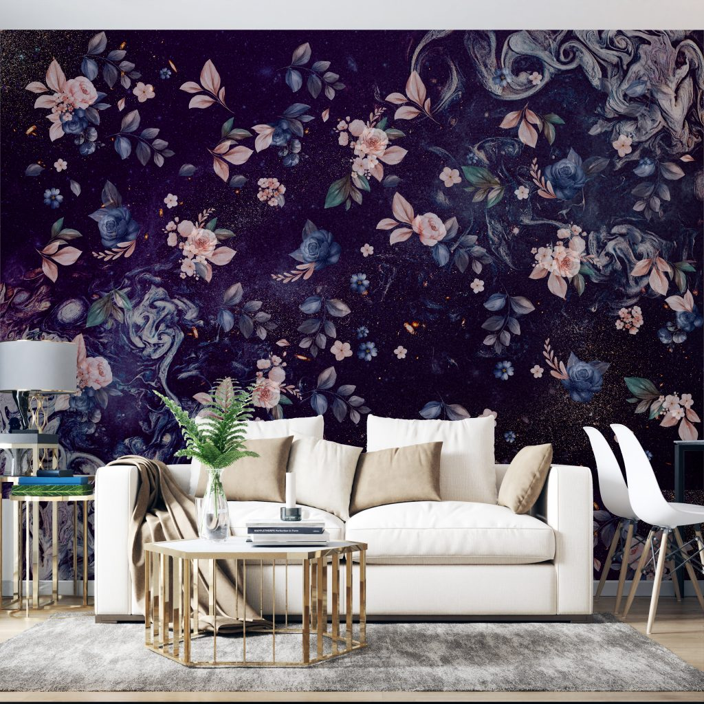 A beautiful watercolor effect wallpaper for your wall