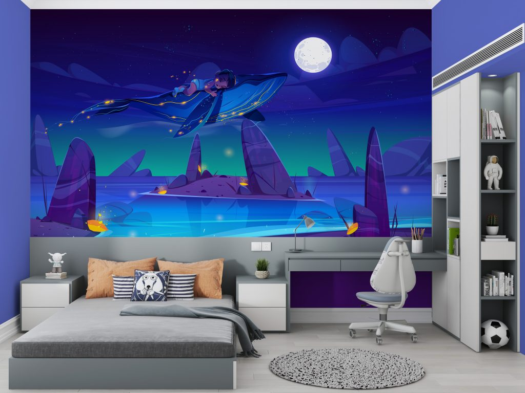 """A beautiful """"dream"""" wallpaper for your kid's room"""