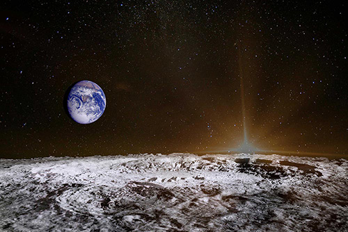 Earth Set from Moon