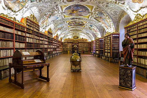 Inside a Old Library