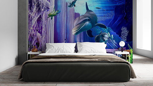 3D Sharhs on your wall