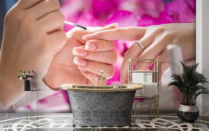Pink Blossoms and Manicure