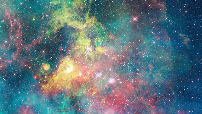 Colourful Galaxy In Space