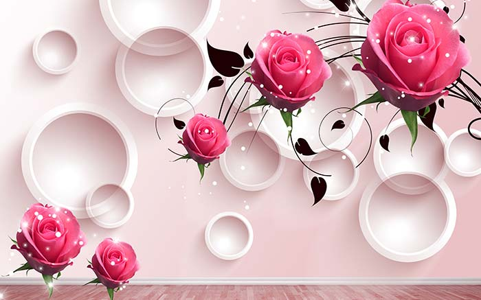 Pink Rings and Roses