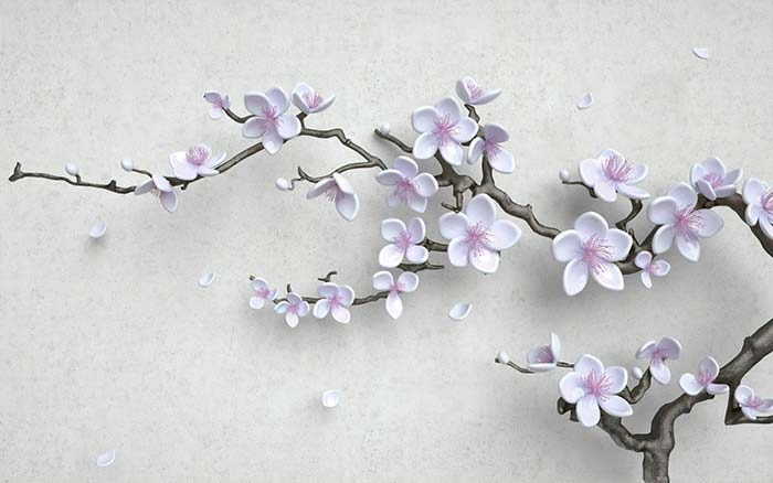 White Flowers on a Branch