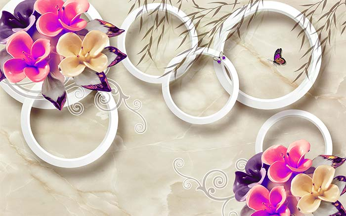 Purple Blooms and Rings