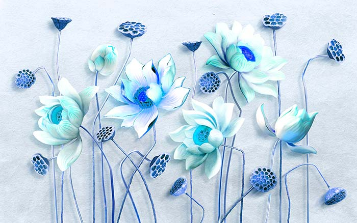 Turquoise Blue Flowers