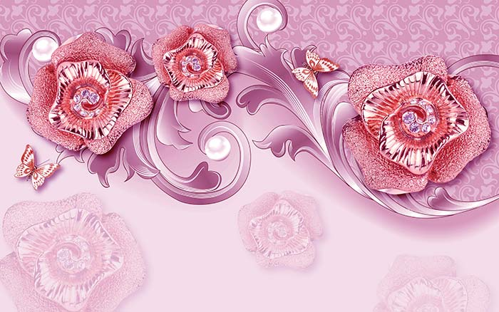 Pink Pearls and Roses