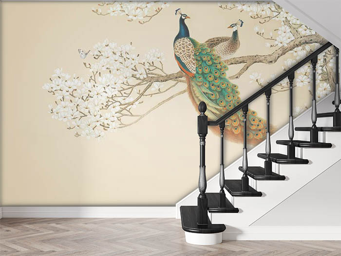 Peacocks on a Branch