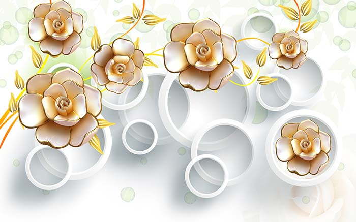 White rings Floral