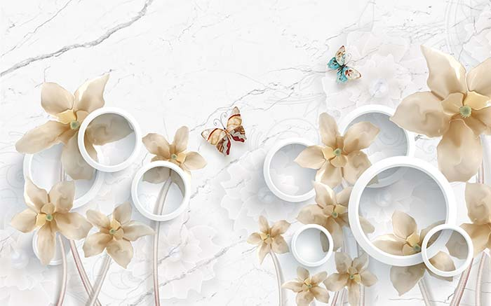 White Floral RIngs