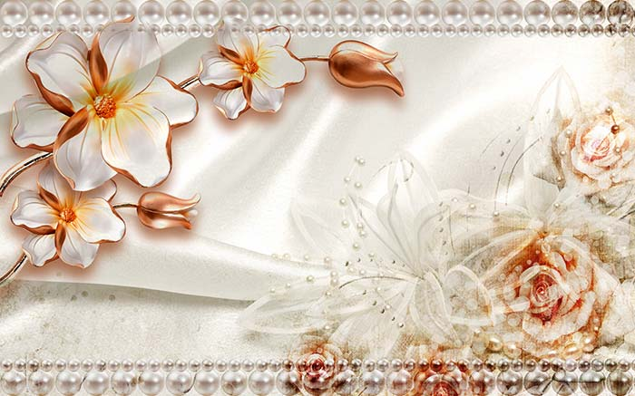 White Floral Jewel