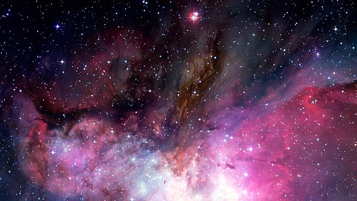 Colourful Galaxy with stars