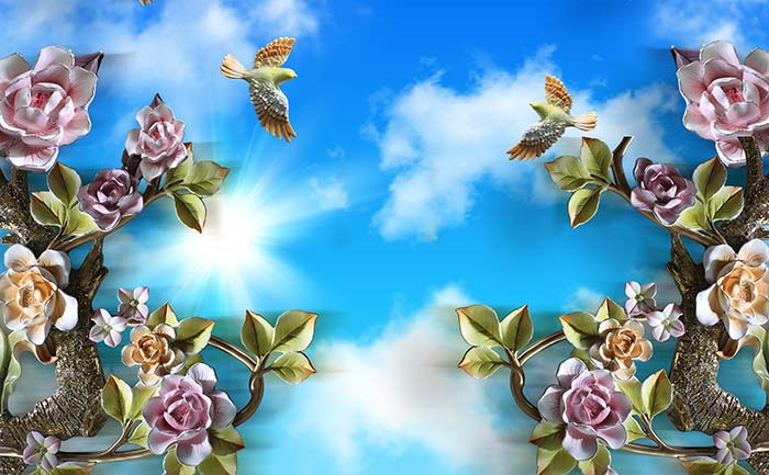 Roses and sky view