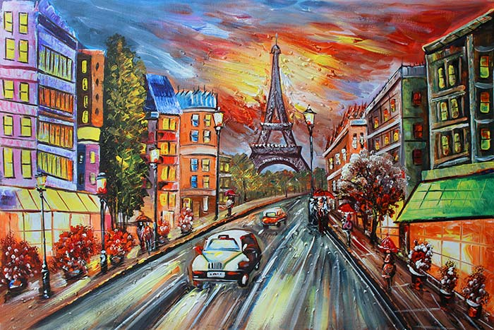 Effiel Tower and Street
