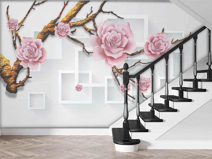 Roses on branch