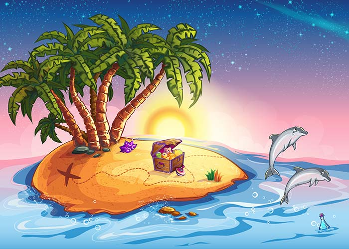 Island with Dolphins