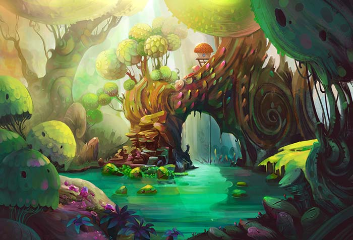Into the wood fantasy land
