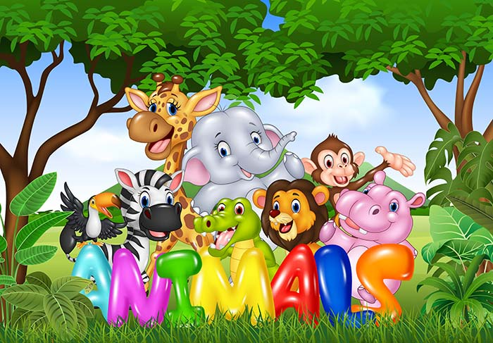 Baby animal's jungle party