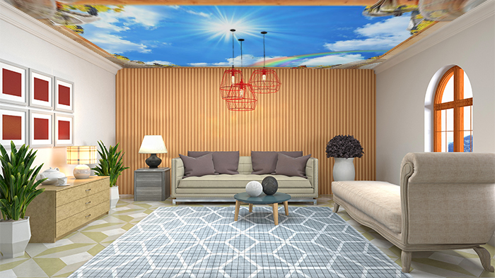 Ceiling Design with panels