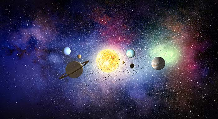 Planets form Space