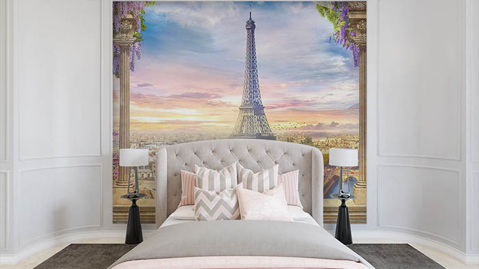 Sunset by Eiffel Tower
