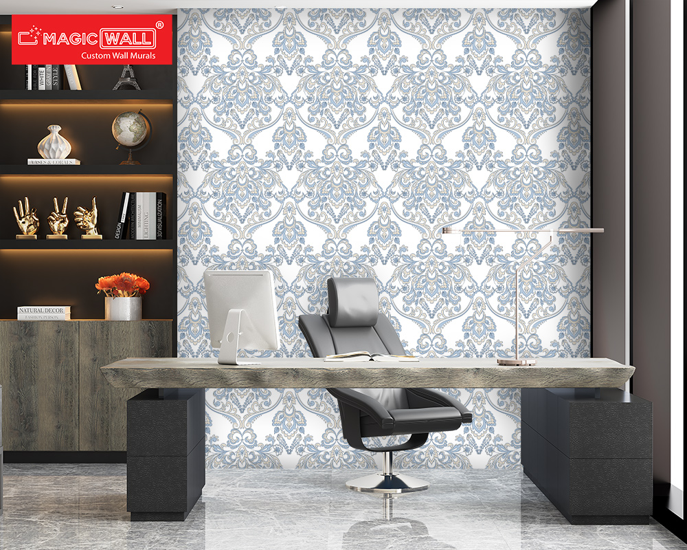 Bright, popping colored Mural Designs for amazingly exciting desks and a workable corporate environment.(Office Decor 3)