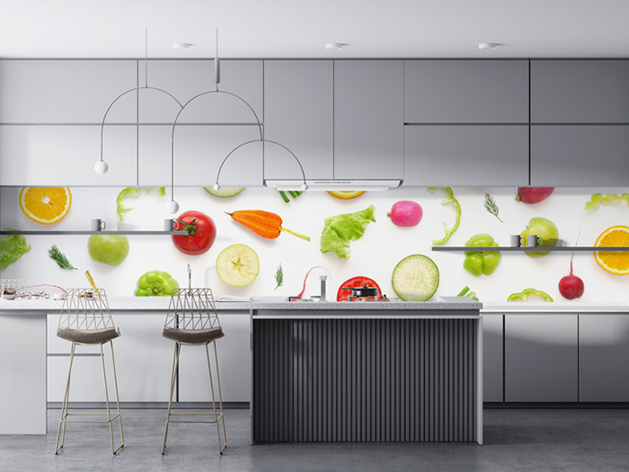 Popping, Loud Designs making even the most bring kitchens Interesting