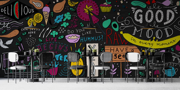 Cool trendy Bold Designs as an inspiration for Restaurant Decor