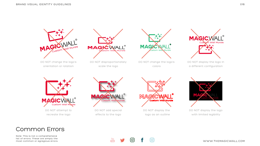 Magicwall® Branding & Trademark usages 12